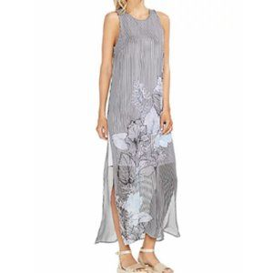 NEW Vince Camuto Floral Print Dress Overlay Maxi